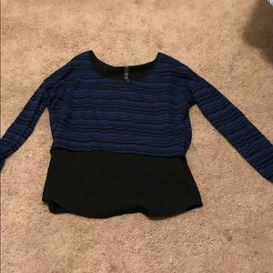 Crop top sweater with attached camisole